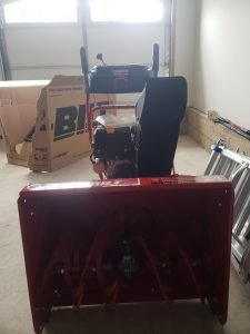 A quick look at Troy-Bilt snow blower.