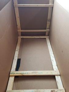 Inside the Troy-Bilt Snow blower box.