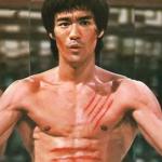 Bruce Lee posing.
