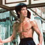 Bruce Lee in the mirror maze.