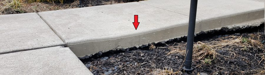 Repair a Sinking Concrete Walkway