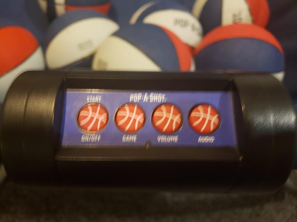 Pop A Shot Basketball control panel.