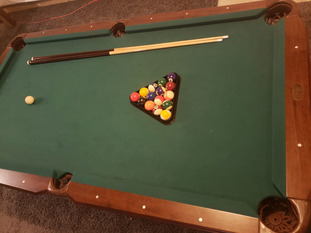 Another shot of Eastpoint brighton pool table.