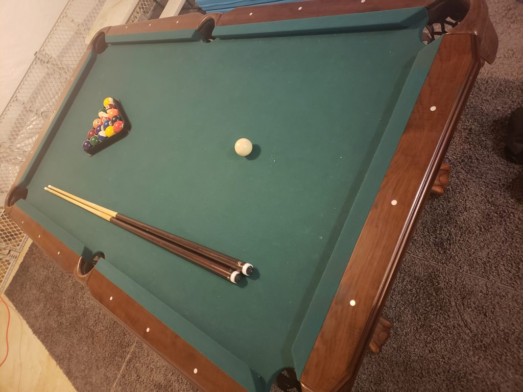 A different view of the Eastpoint brighton pool table.