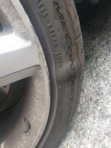 Bubble in Car Tire