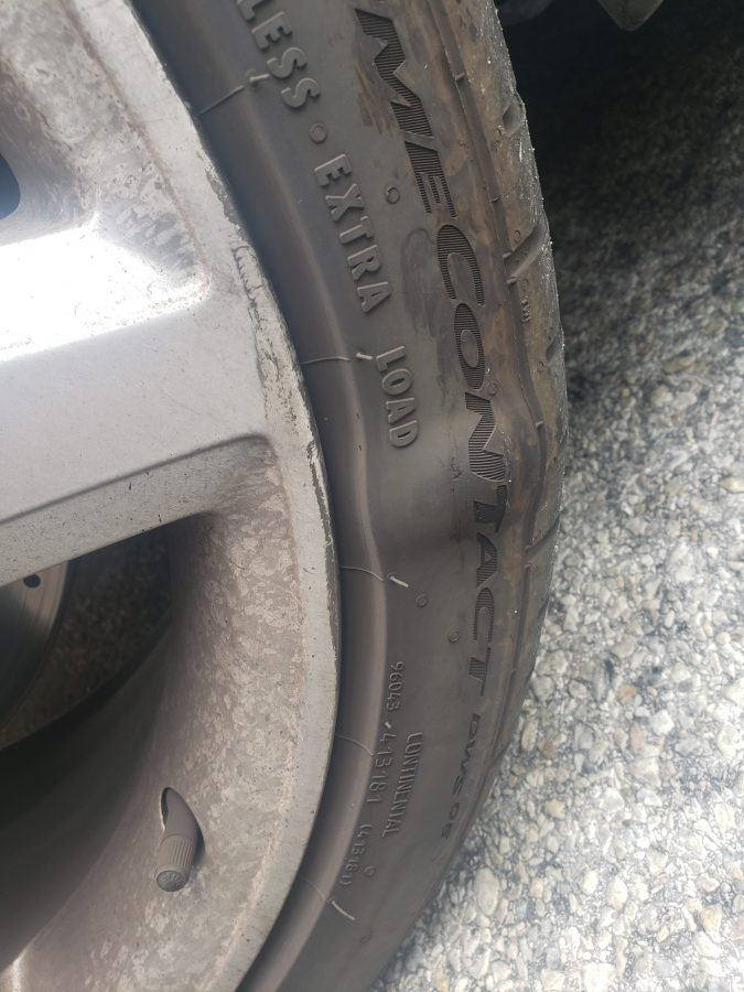 Bubble in Car Tire