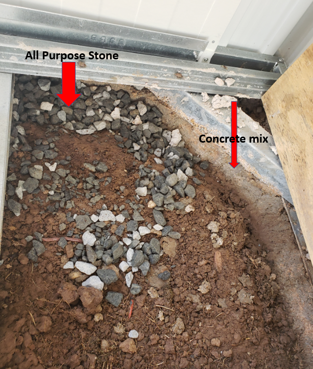Add All-purpose stone to cover the holes.