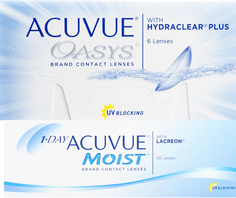 ACUVUE OASYS® vs ACUVUE® MOIST – Comparison