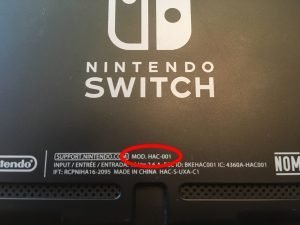 New Nintendo Switch model number.