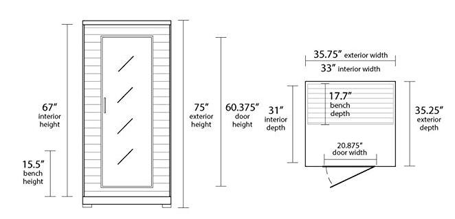 radiant sauna bsa2400
