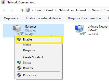 disable network