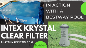 Intex Krystal Clear Pool Filter on the Bestway Swimming Pool