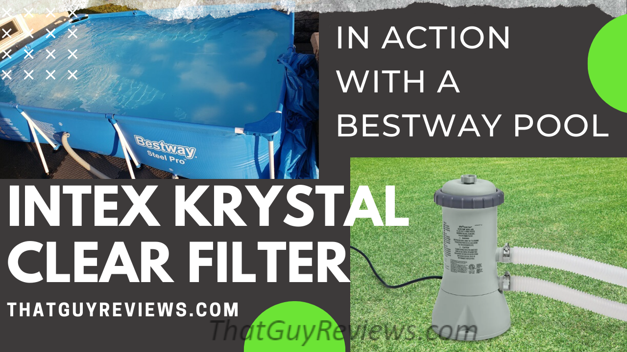 Intex Krystal Filter on the Bestway Swimming Pool