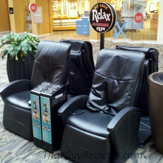 The mall massage chair waiting to be used.
