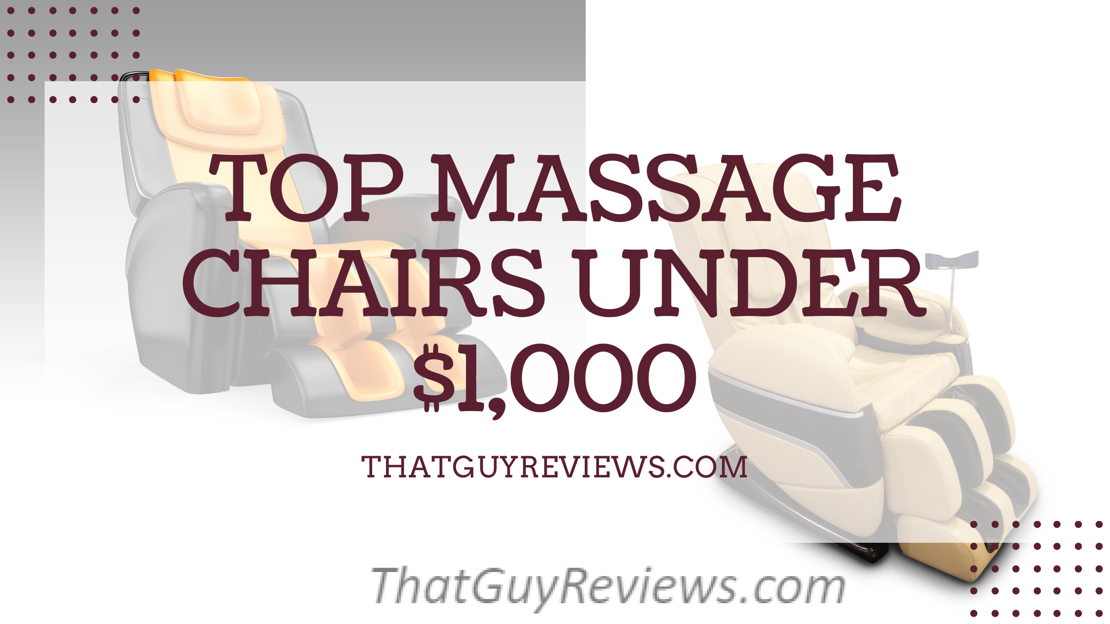Best Massage Chairs Under $1,000 in 2020