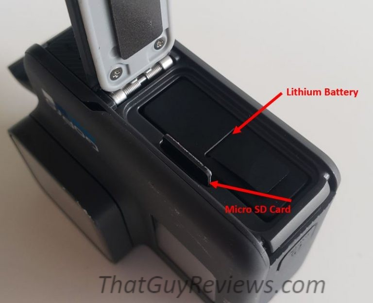 GoPro Hero Review storage battery.